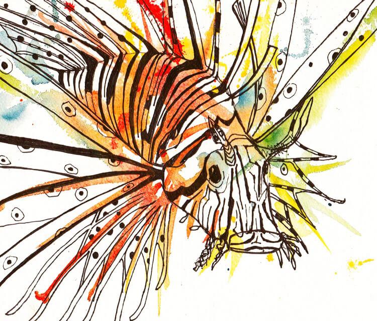 Lion Fish by Tori Ratcliffe Art