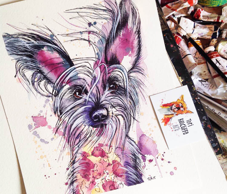 Little Bobby Dog by Tori Ratcliffe Art