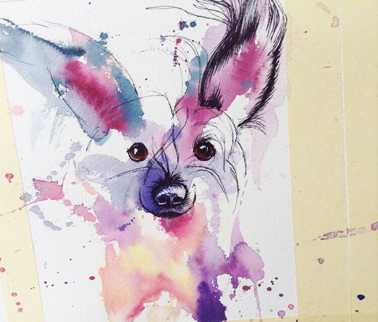 Little Bobby in progress by Tori Ratcliffe Art