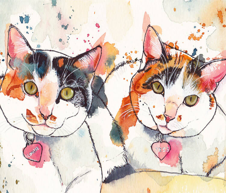 Louise and Tess by Tori Ratcliffe Art