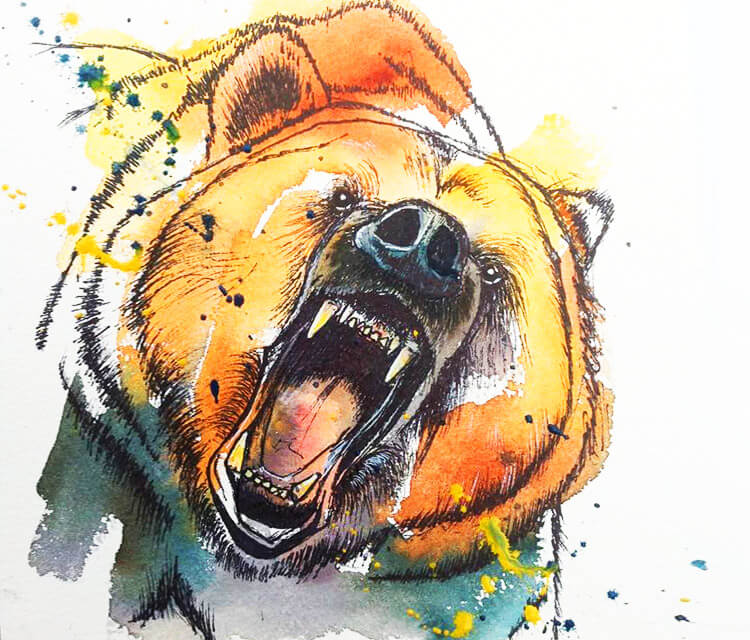 Of course it was a bear by Tori Ratcliffe Art