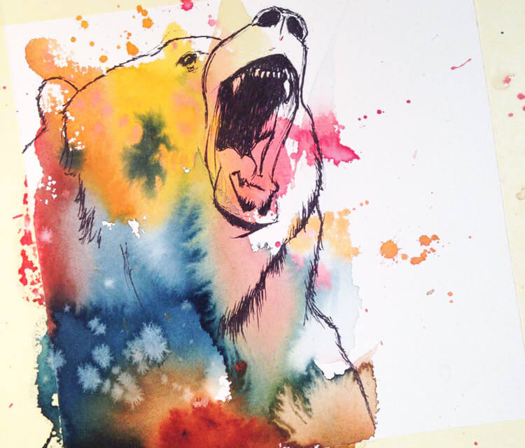 Rainbow Grizzly by Tori Ratcliffe Art