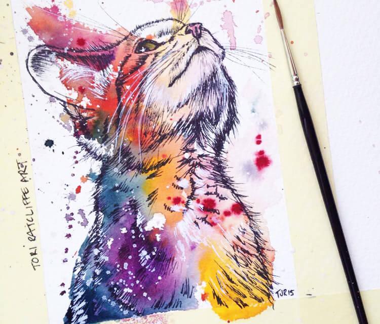 Scottish Wildcat kitten by Tori Ratcliffe Art
