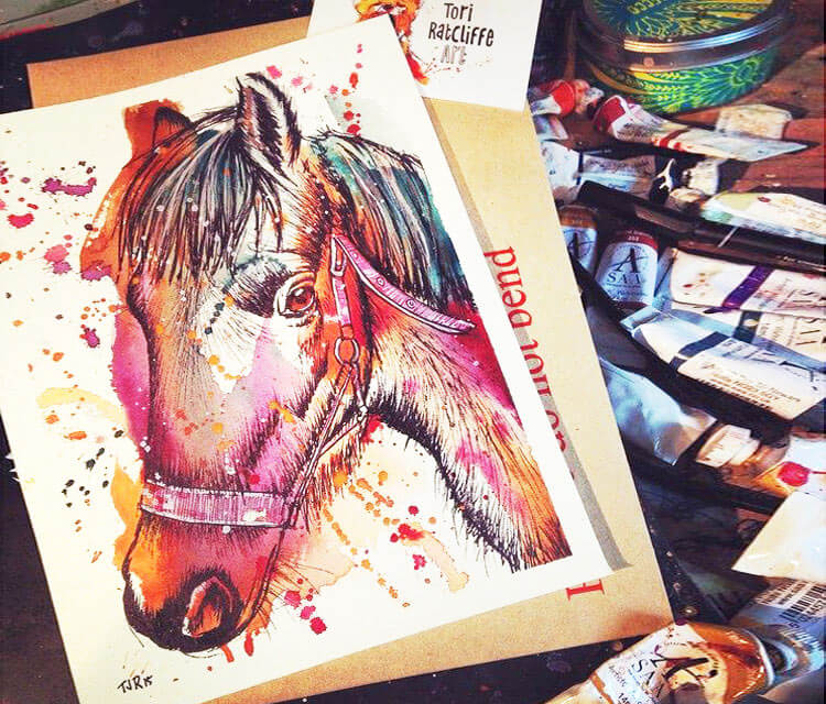 This is Foxie by Tori Ratcliffe Art