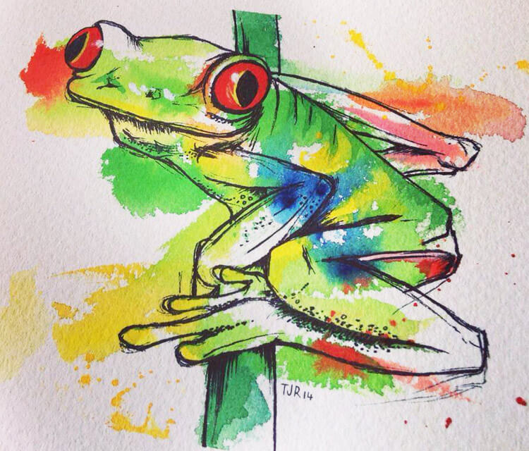 Tree Frog by Tori Ratcliffe Art