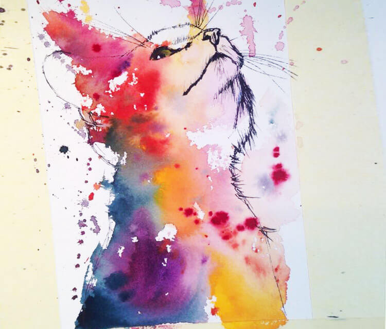 Wildcat Kitten by Tori Ratcliffe Art
