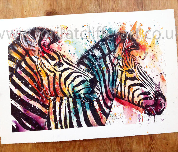 Zebras by Tori Ratcliffe Art