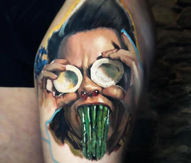 Ace Ventura tattoo by Valentina Ryabova