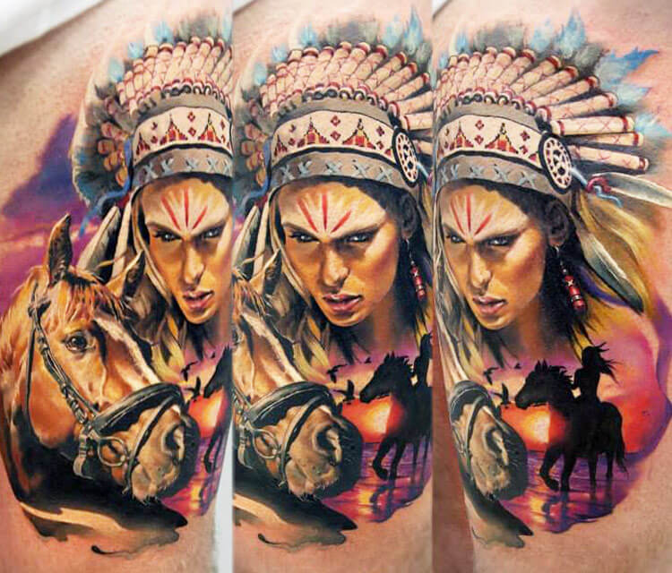 Squaw tattoo by Valentina Ryabova