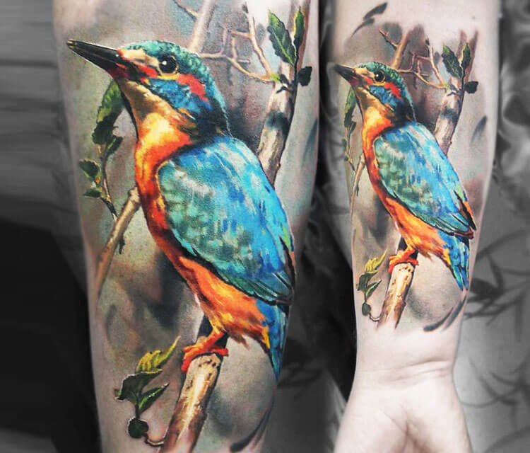 Bird tattoo by Valentina Ryabova