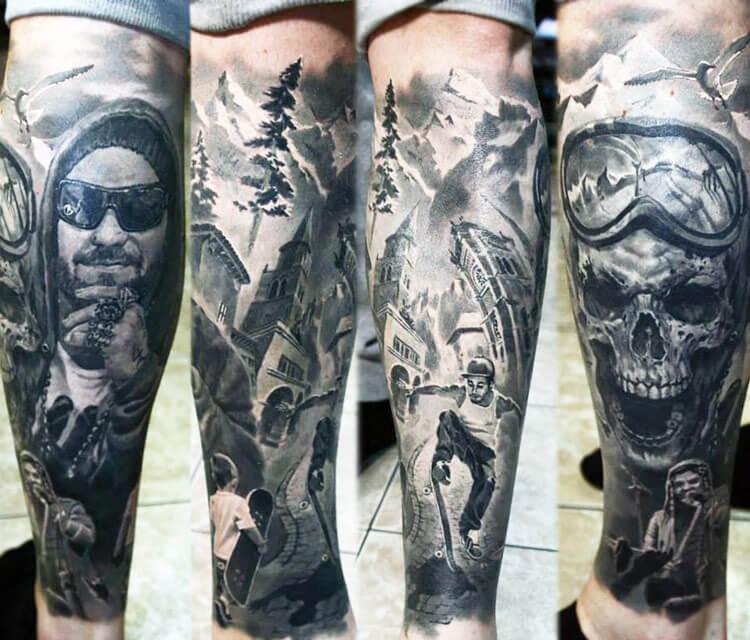 Black and Gray tattoo by Valentina Ryabova