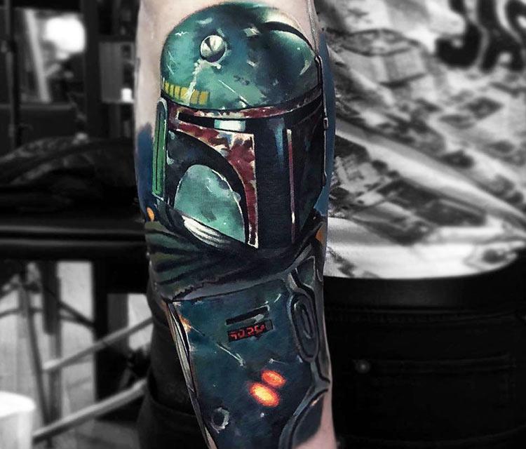 Boba Fett tattoo by Valentina Ryabova