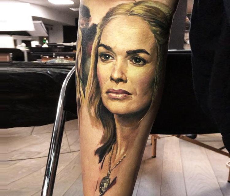 Cersei Lannister tattoo by Valentina Ryabova