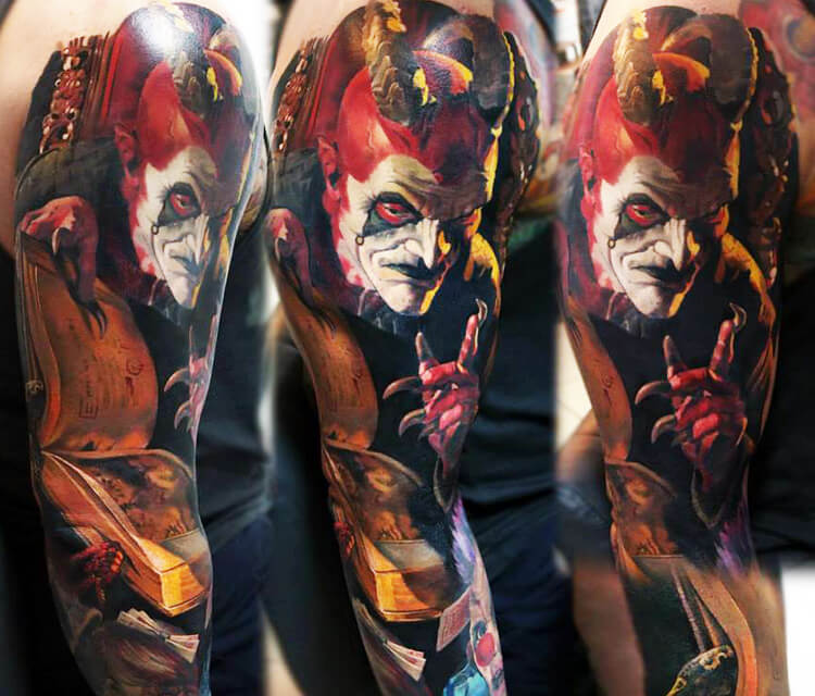 Devil in me tattoo by Valentina Ryabova