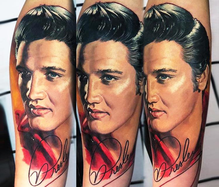 Elvis Presley tattoo by Valentina Ryabova