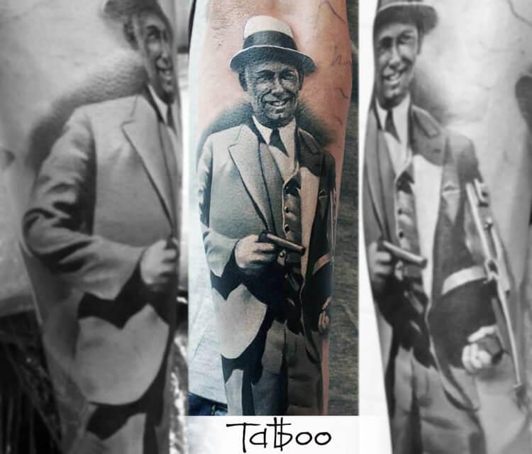 Gangster tattoo by Valentina Ryabova