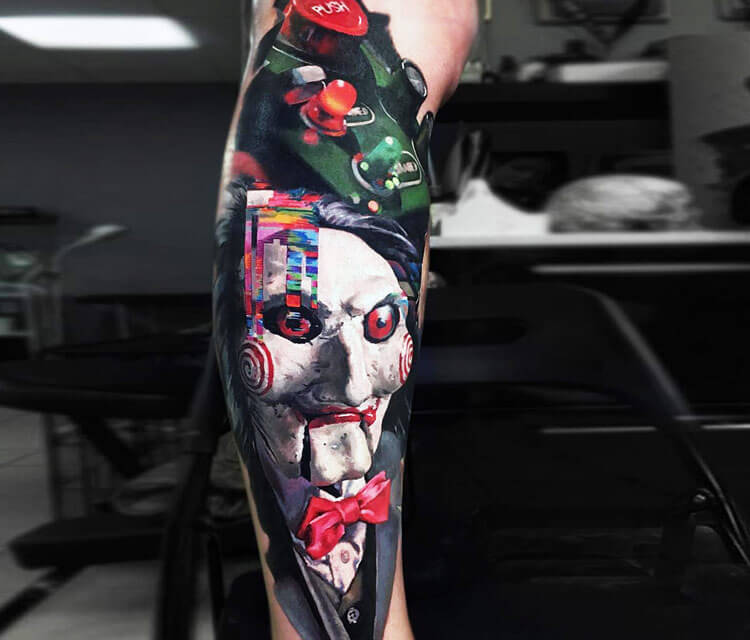 Jigsaw tattoo by Valentina Ryabova