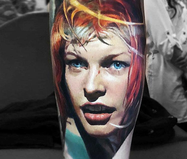 Leeloo tattoo by Valentina Ryabova