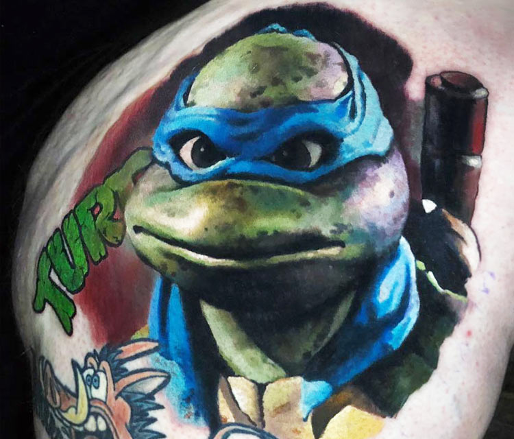 Leonardo tattoo by Valentina Ryabova
