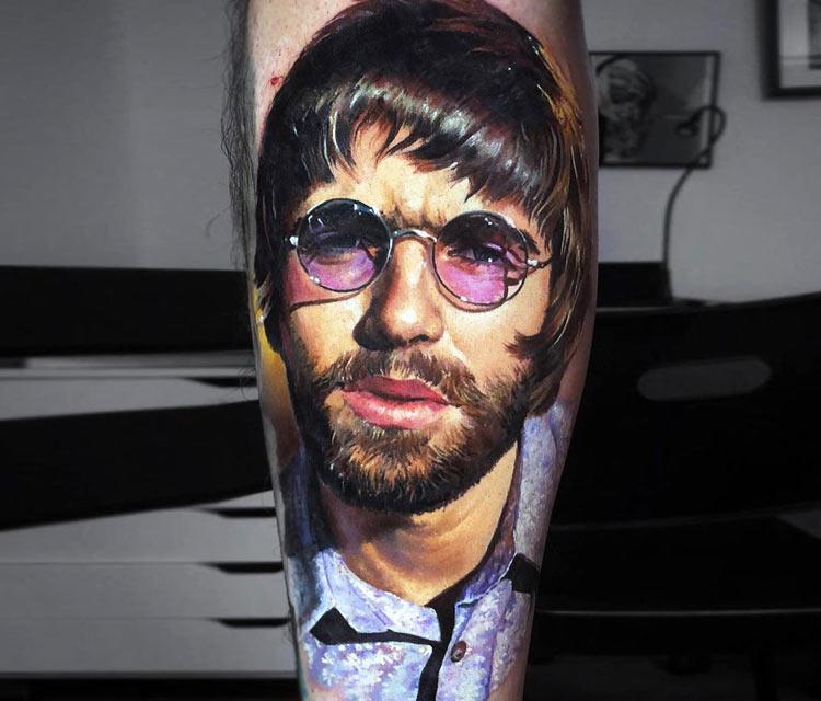 Liam Gallagher tattoo by Valentina Ryabova