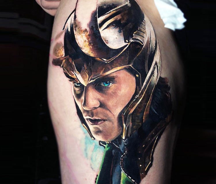 Loki tattoo by Valentina Ryabova