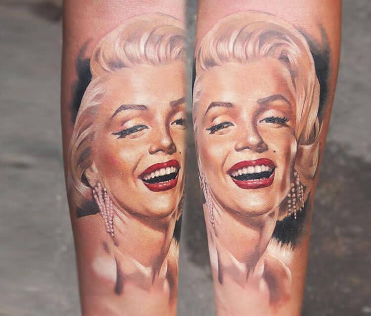 Marilyn Monroe tattoo portrait by Valentina Ryabova