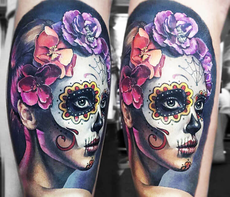 Muerte tattoo by Valentina Ryabova