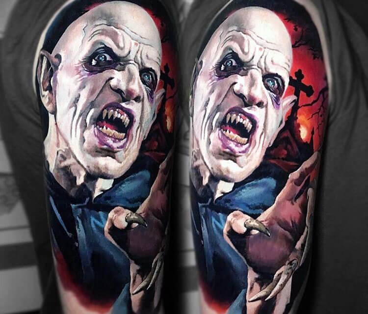 Nosferatu tattoo by Valentina Ryabova