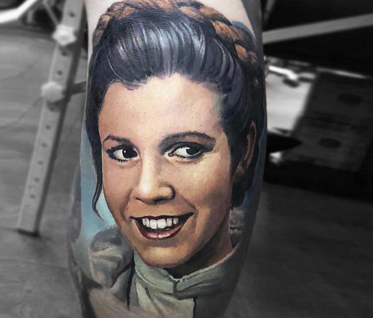 Princess Leia tattoo by Valentina Ryabova