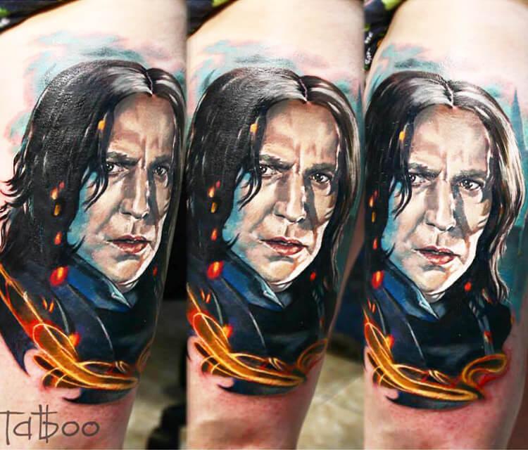Severus Snape tattoo by Valentina Ryabova