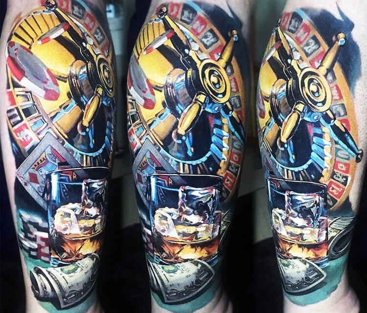 Vegas tattoo by Valentina Ryabova