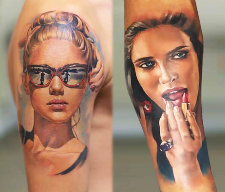 Women portraits Tattoo by Valentina Ryabova