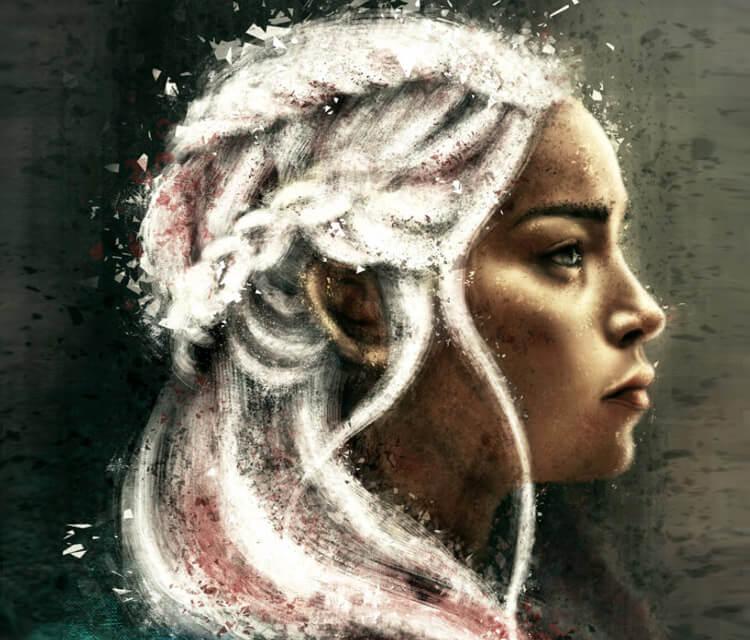 Daenerys Targaryen digitalart by Varsha Vijayan