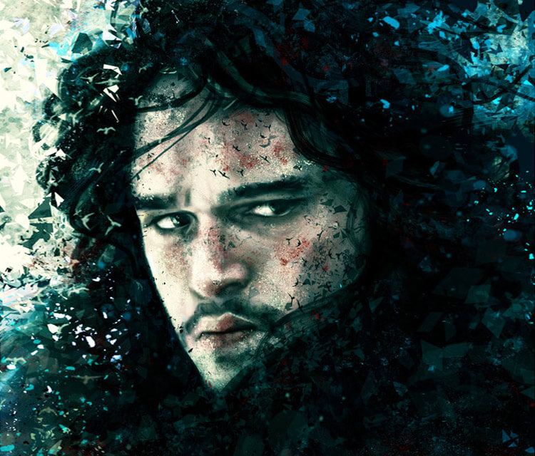 Jon Snow digitalart by Varsha Vijayan