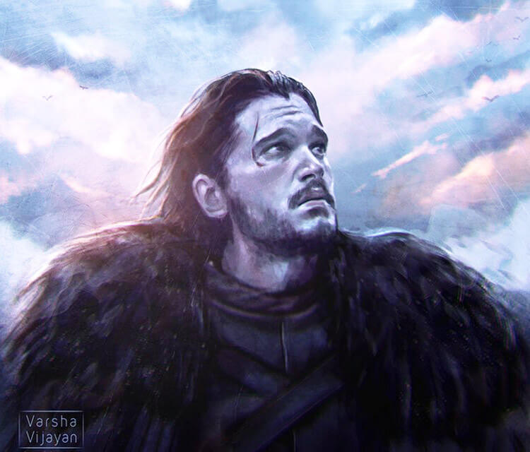 Jon Snow painting by Varsha Vijayan