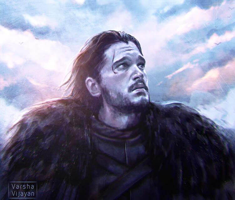 Jon Snow painting by Varsha Vijayan