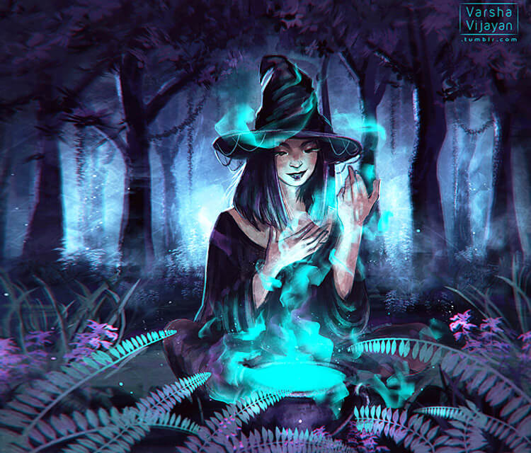 Witch digitalart by Varsha Vijayan