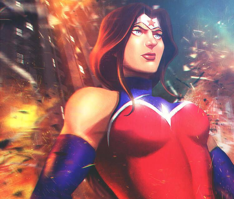 Wonder woman digitalart by Varsha Vijayan