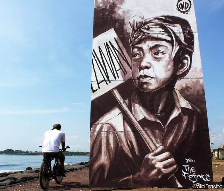 Im a Rebel streetart by Wild Drawing