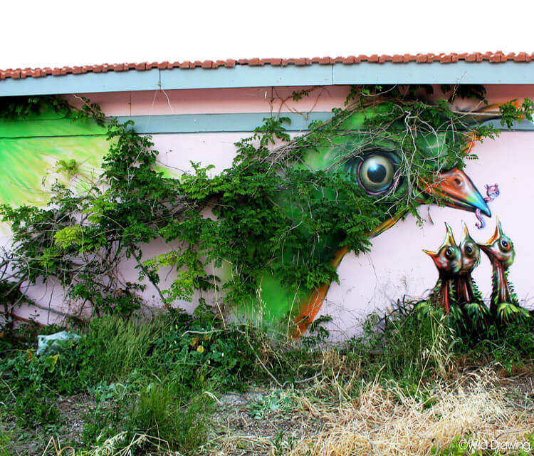 Mother Nature streetart by Wild Drawing