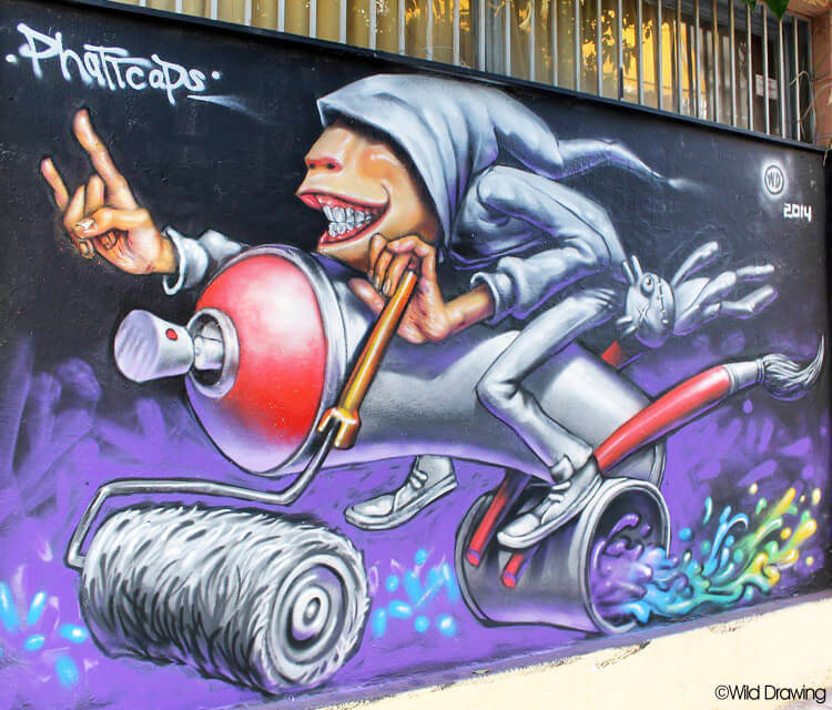 Easy writer streetart by Wild Drawing