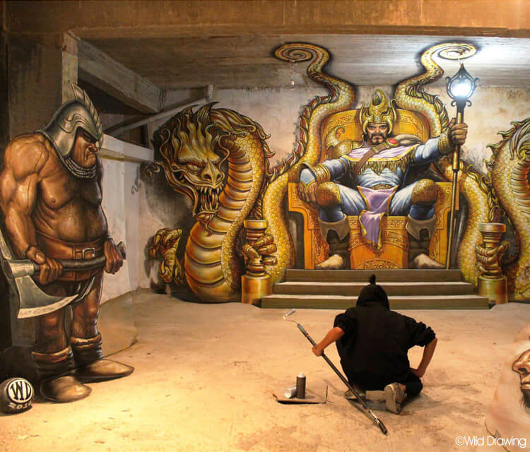 Hall of Fate streetart by Wild Drawing