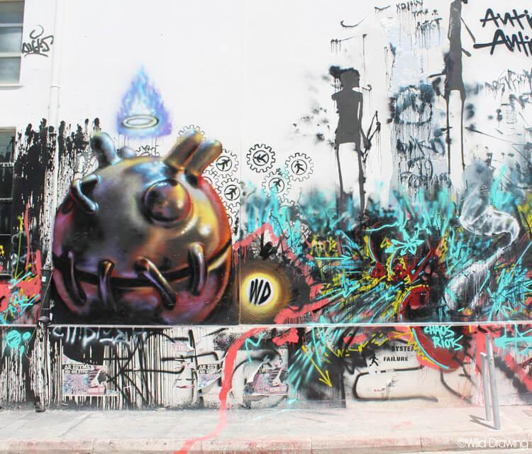 Mural streetart by Wild Drawing