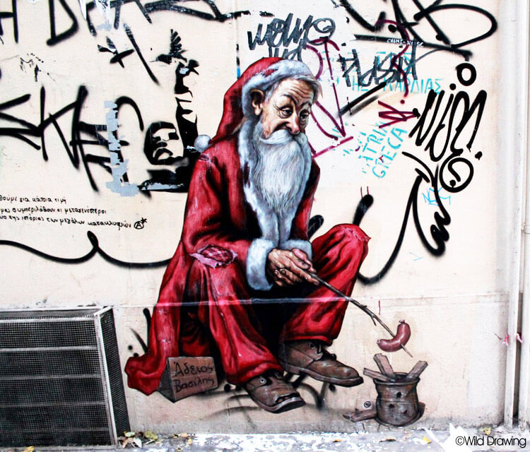 Santa Claus is living in town by Wild Drawing