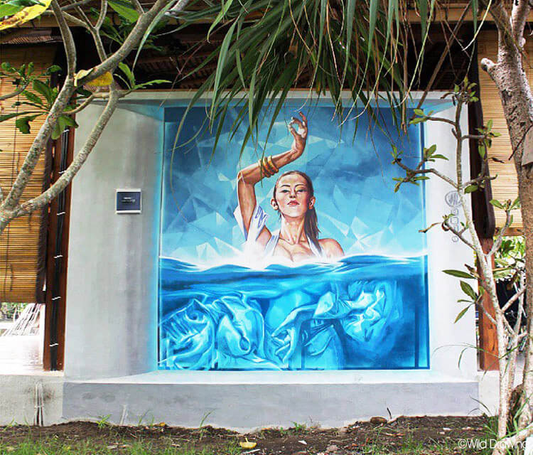 Serenity streetart by Wild Drawing