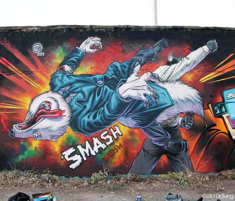 Smash fascism by Wild Drawing