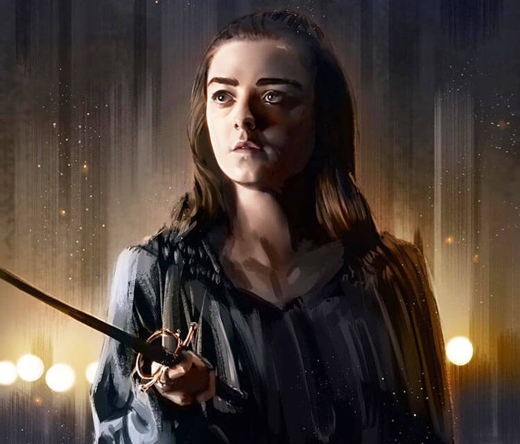Arya Stark digitalart by Zarory Art