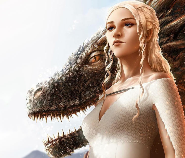 Mother of Dragons digitalart by Zarory Art