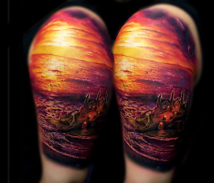 A Sand Castle tattoo by Zsofia Belteczky