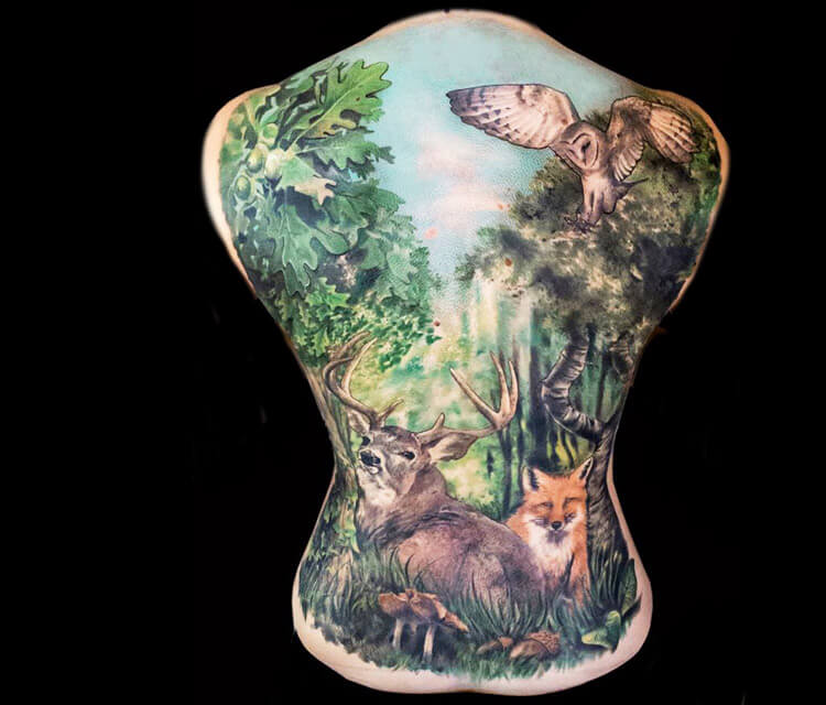 Beautiful Nature tattoo by Zsofia Belteczky